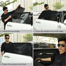 Load image into Gallery viewer, Uarter Universal Rear Side Window Baby Kid Pet Breathable Sun Shade Mesh Backseat (2 Pcs) Fits Most Small and Medium Cars