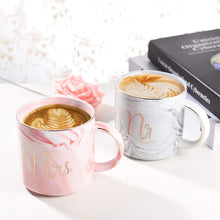 Load image into Gallery viewer, Uarter Ceramic Coffee Cups Mr Mrs Coffee Mugs