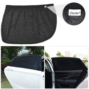 Uarter Universal Rear Side Window Baby Kid Pet Breathable Sun Shade Mesh Backseat (2 Pcs) Fits Most Small and Medium Cars