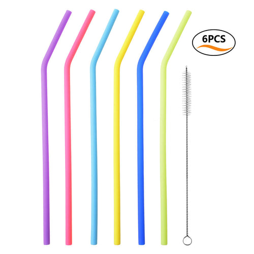 Uarter Reusable Drinking Straws Food-grade Silicone Straws Colorful Drinking Straw Set