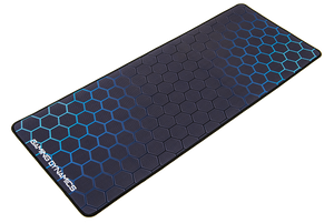 hexagon pattern blue mouse mat gaming pad tech technical