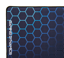 Load image into Gallery viewer, hexagon pattern blue mouse mat gaming pad tech technical