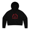 MADE IN ATLANTA BLACK CROPPED HOODIE