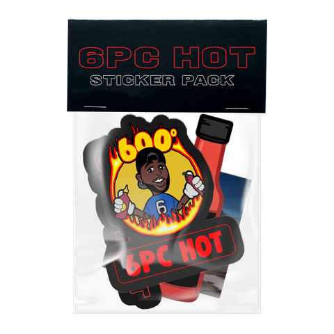 6PC HOT STICKER PACK + DIGITAL EP
