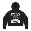 STAY SAFE CROPPED HOODIE