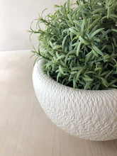 White vase with chattering decoration