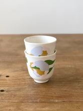 Small cup flower print  - Blue mix