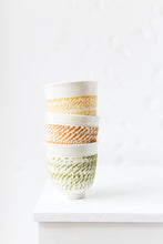 Load image into Gallery viewer, Set of 3 /  Porcelain cup with chattering decoration