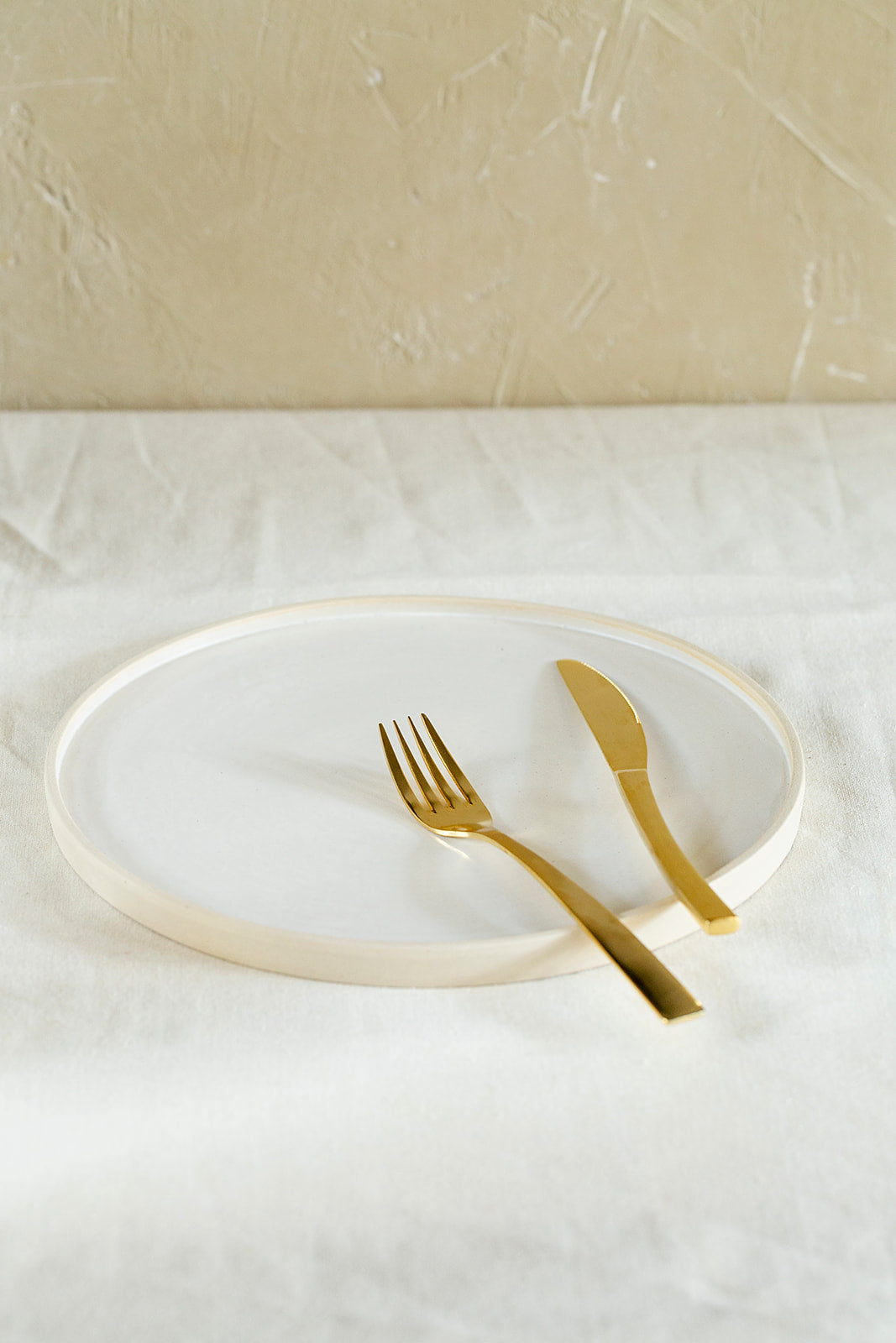 White main course plate