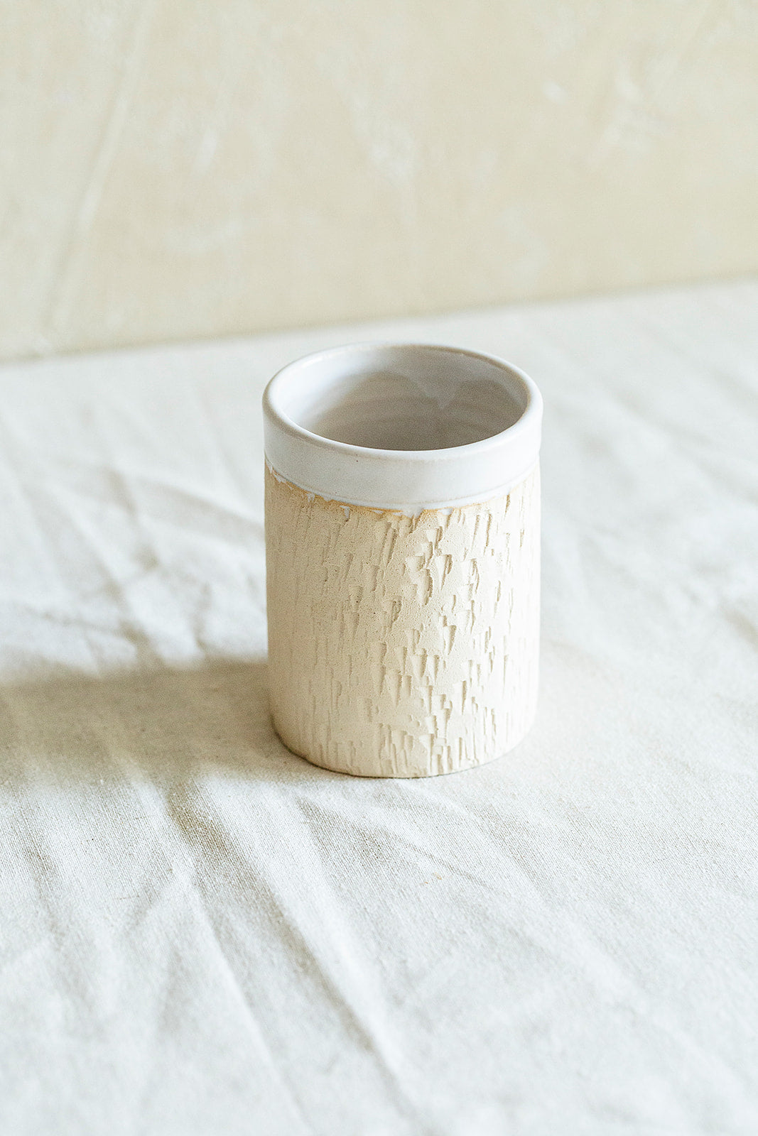 Stoneware cylinder cup