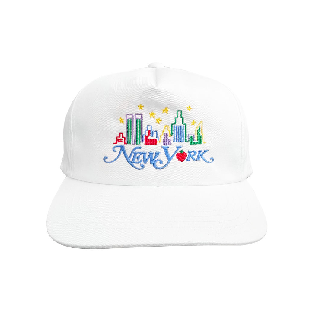 New York Skyline Hat (White)