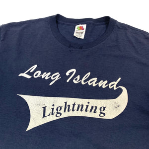 Long Island Lightning Baseball Tee (Size L)