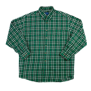 Green Checkered Flannel (Size L)