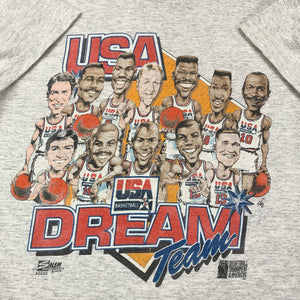 '92 USA Dreamteam Big Head Team Tee (M)