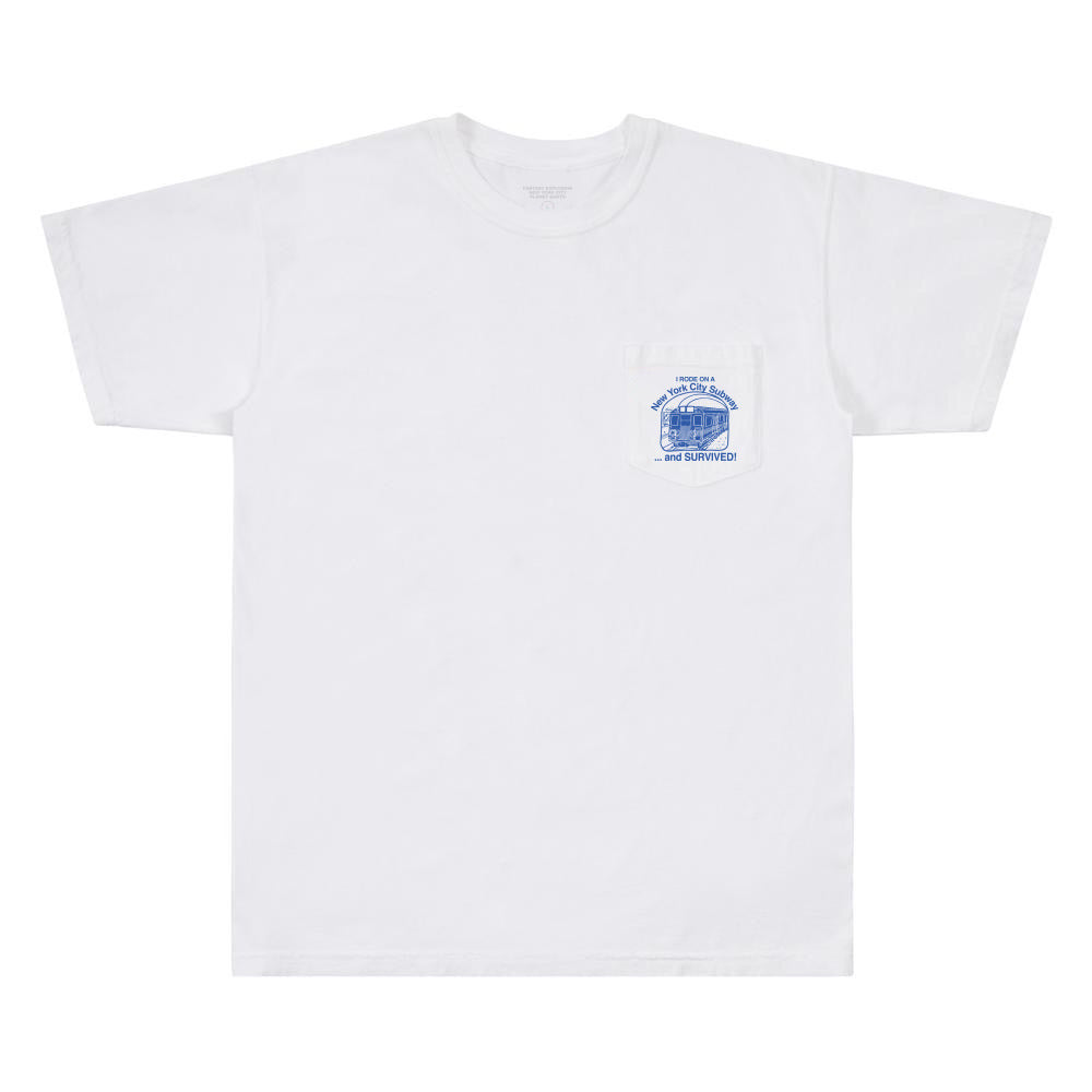 NYC Subway Survival Pocket Tee (White)