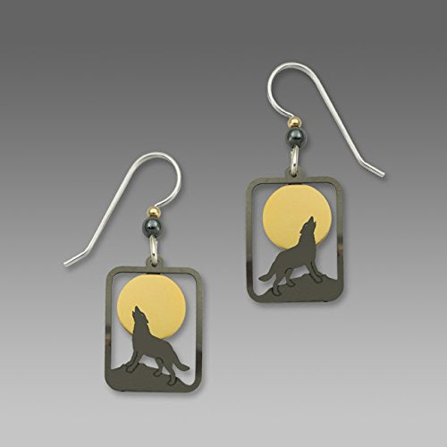 Square Wolf Earrings