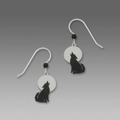 Wolf and the Full Moon Earrings