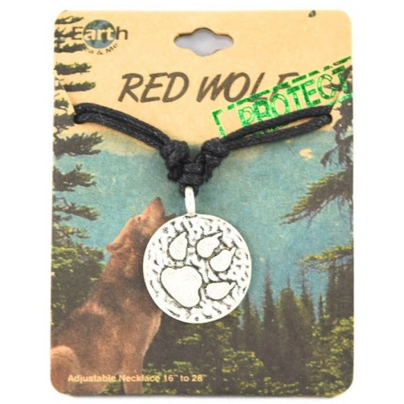 Info Tracks Wolf Necklace