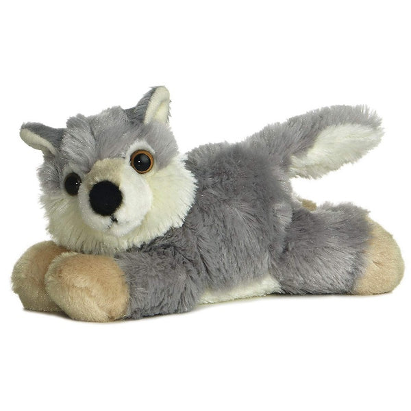"Floppy 8"" Grey Wolf Plush"
