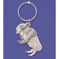 Metal Bison Keyring