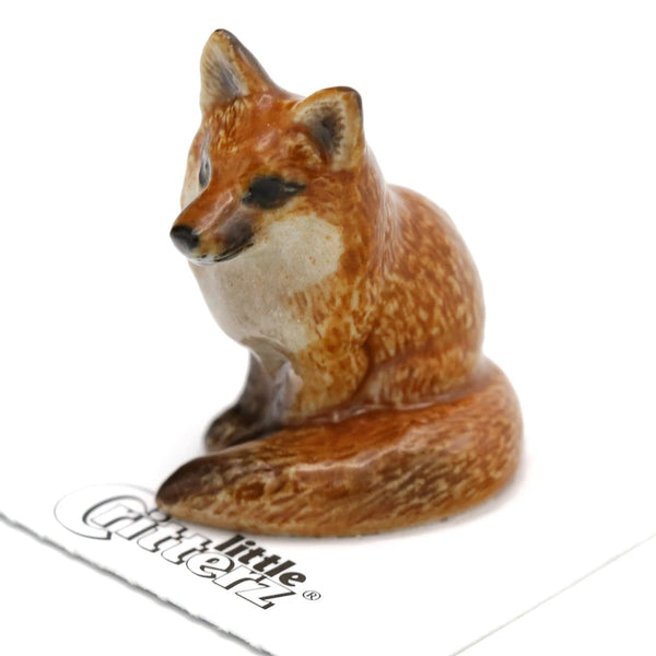 """Brush"" - Red Fox Statue"