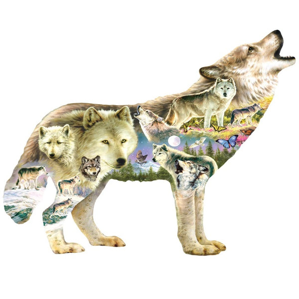 Meadow Wolves 750 Piece Puzzle