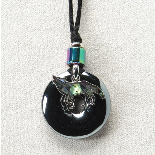 Wolf on Hematite Necklace
