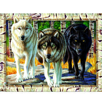 Wolf Pack Colors 1000 Piece Puzzle