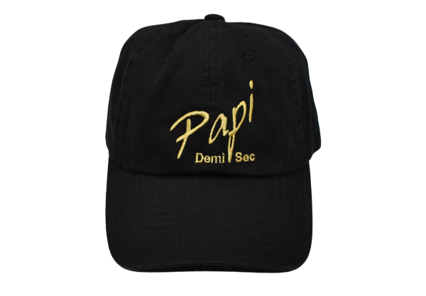 Papi Specialty Adjustable Baseball Hat in Black