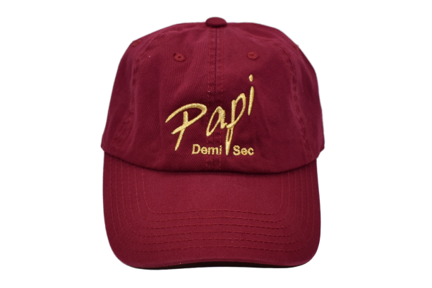 Papi Specialty Adjustable Baseball Hat in Burgundy