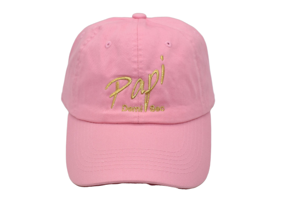 Papi Specialty Adjustable Baseball Hat in Light Pink
