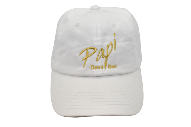 Papi Specialty Adjustable Baseball Hat in White