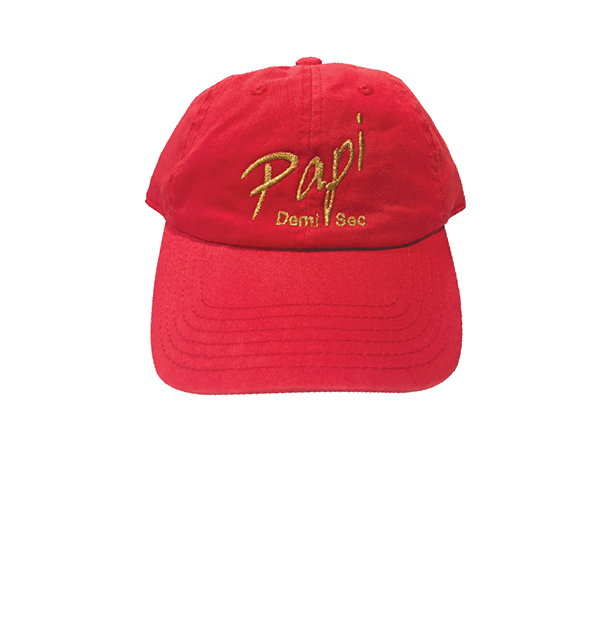 Papi Specialty Adjustable Baseball Hat in Coral Pink