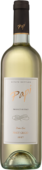 Pinot Grigrio bottle - Papi Wines