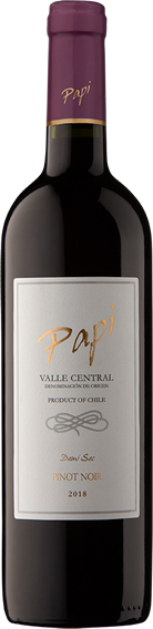 Pinot Noir bottle - Papi Wines