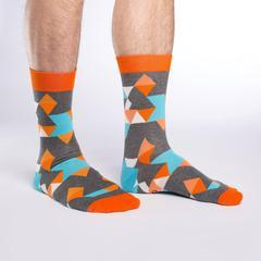Orange Kaleidoscope Socks