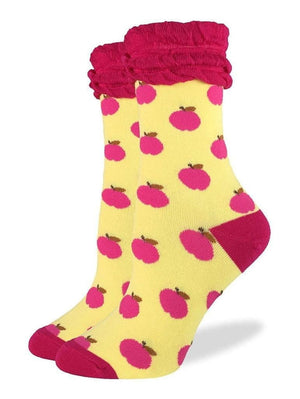 Women's apple socks yellow