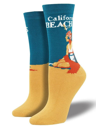 Bamboo California Beaches Socks.
