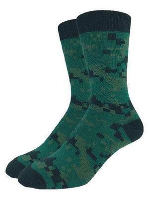 Green army socks for men