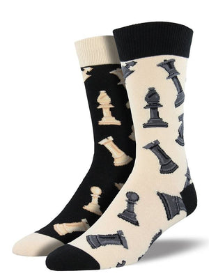 Mismatched checkmate socks from Socksmith