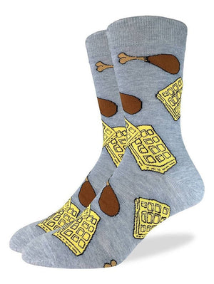 Funny socks with chicken and waffles