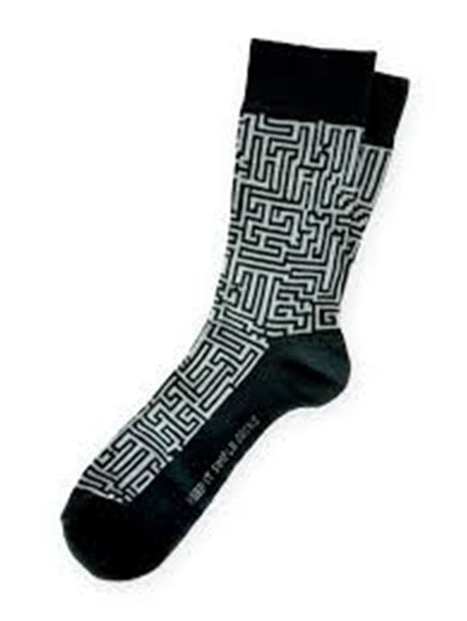 Classic gray and black stripes socks