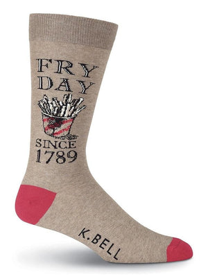 Funny socks with fries illustration