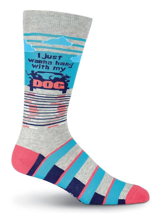 Funny colorful socks with quote