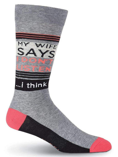 My Wife Says Socks.