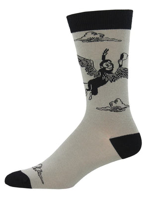 Gray socks with Monkey of Oz
