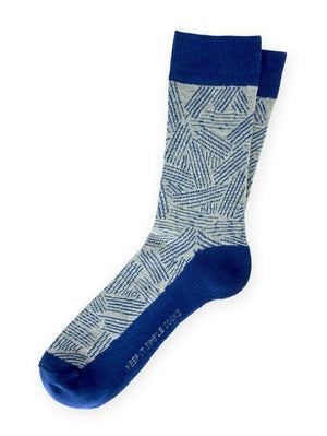 Blue striped socks for men