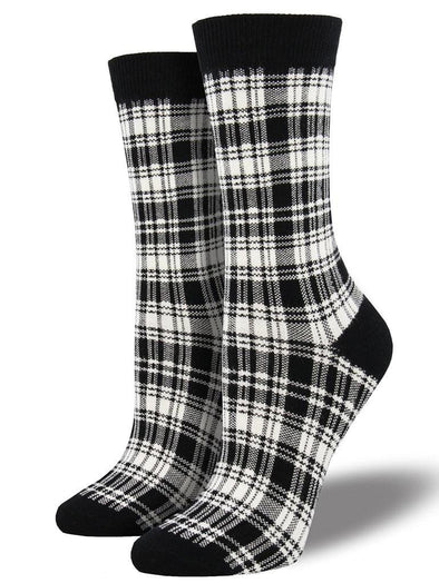 Bamboo Plaid Socks.