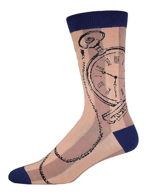 Funny socks with pocket watch