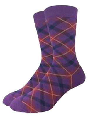 Purple gepmetric socks for men